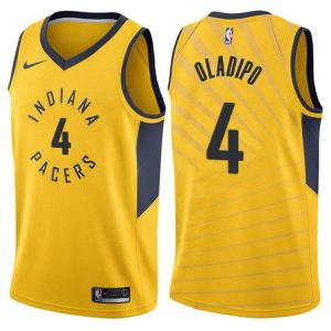 2017-18 Victor Oladipo Indiana Pacers #4 Statement Gold