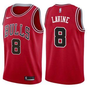2017-18 Zach LaVine Chicago Bulls #8 Icon Red