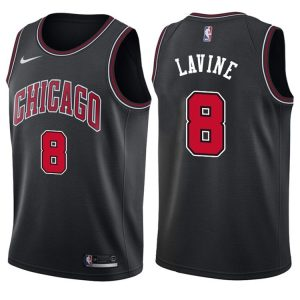 2017-18 Zach LaVine Chicago Bulls #8 Statement Black