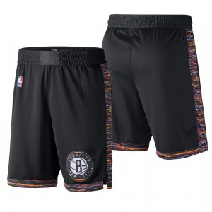 2018-19 Brooklyn Nets Black City Shorts