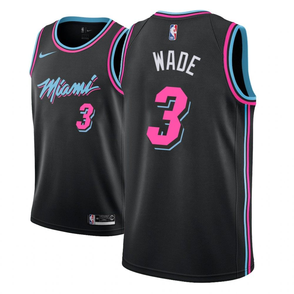 2018-19 Dwyane Wade Miami Heat #3 City Edition Black