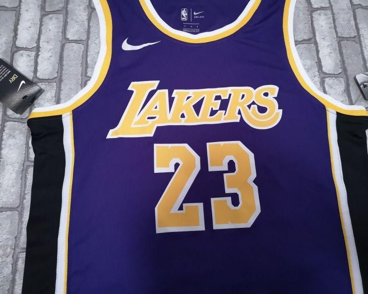 2018-19 James Los Angeles Lakers #23 Statement Purple