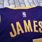 2018-19 James Los Angeles Lakers #23 Statement Purple-3