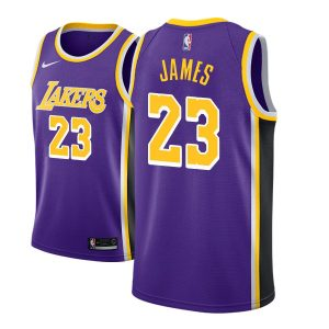 2018-19 James Los Angeles Lakers #23 Statement Purple