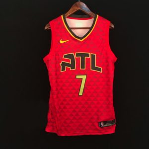 2018-19 Jeremy Lin Atlanta Hawks #7 Statement Red