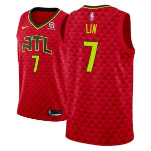 2018-19 Jeremy Lin Atlanta Hawks #7 Statement Red