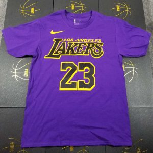 2018-19 LA Lakers City Edition LeBron James 23 Purple Tee