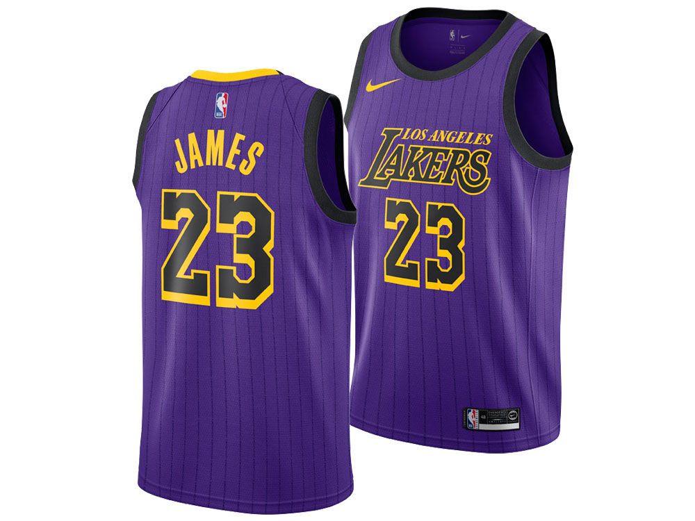 2018-19 Lakers LeBron James Purple City Edition