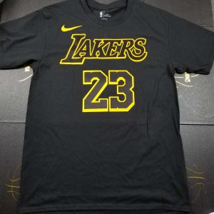 2018-19 LeBron James Lakers Black Tee