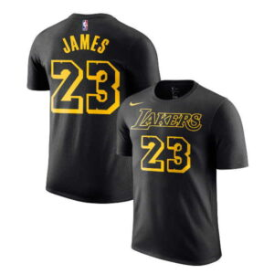 2018-19 LeBron James Lakers Black Tee