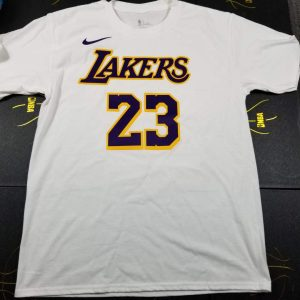 2018-19 LeBron James Lakers White Tee