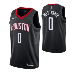 2018-19 Rockets Russell Westbrook #0 Black Statement