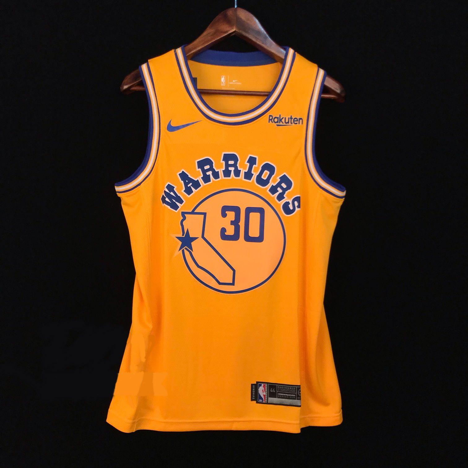 2018-19 Stephen Curry Warriors #30 Hardwood Classic Gold