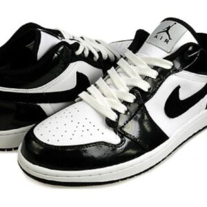 Jordan 1 Phat Low Patent White Black