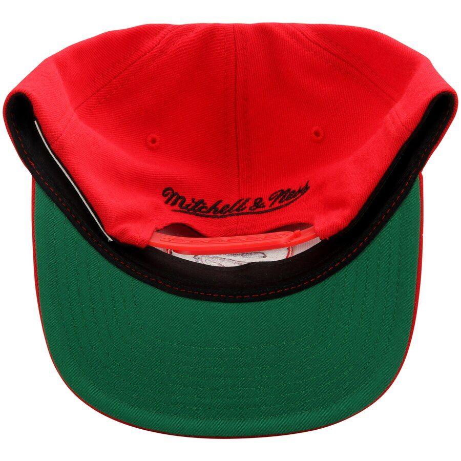 Mitchell & Ness Raptors Red Wool Solid Snapback