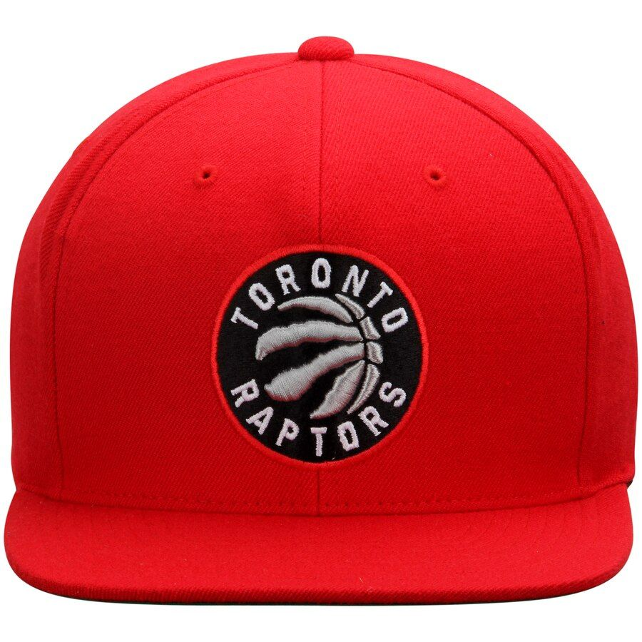 Mitchell & Ness Raptors Red Wool Solid Snapback