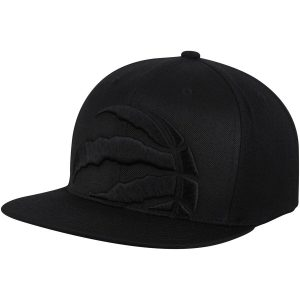 Raptors Mitchell & Ness Cropped XL Logo Snapback Black