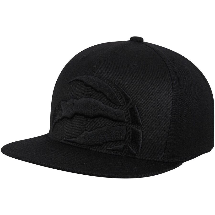 Raptors Mitchell & Ness Cropped XL Logo Snapback Black