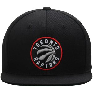 Raptors Mitchell & Ness Wool Solid Snapback Black
