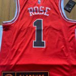Rose Chicago Bulls Nike Icon Swingman Jersey Red-4