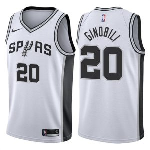 2017-18 Manu Ginobili San Antonio Spurs #20 Association White