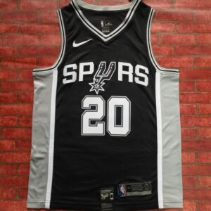2017-18 Manu Ginobili San Antonio Spurs #20 Icon Black