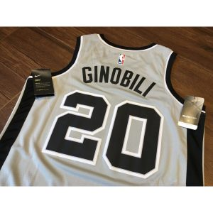 2017-18 Manu Ginobili San Antonio Spurs #20 Statement Gray