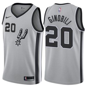 2017-18 Manu Ginobili San Antonio Spurs #20 Statement Gray