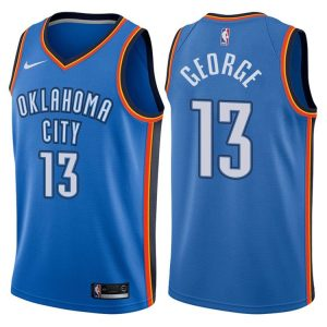 2017-18 Paul George Oklahoma City Thunder #13 Icon Blue