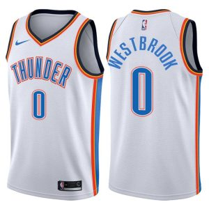 2017-18 Russell Westbrook Oklahoma City Thunder #0 Association White