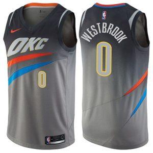 2017-18 Russell Westbrook Oklahoma City Thunder #0 City Gray