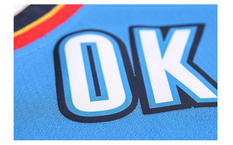 2017-18 Russell Westbrook Oklahoma City Thunder #0 Icon Blue