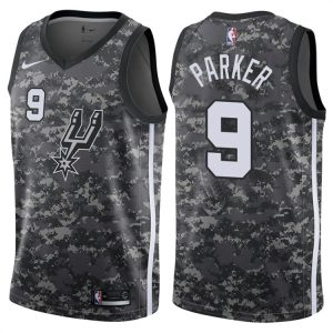 2017-18 Tony Parker San Antonio Spurs #9 City Camo