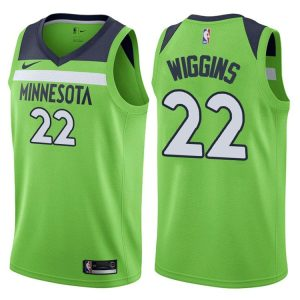2017-18 Andrew Wiggins Minnesota Timberwolves #22 Statement Green
