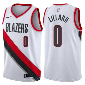 2017-18 Damian Lillard Portland Trail Blazers #0 Association White