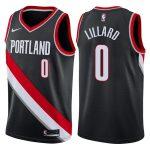2017-18 Damian Lillard Portland Trail Blazers #0 Icon Black
