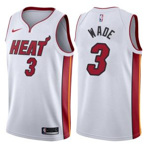 2017-18 Dwyane Wade Miami Heat #3 Association White