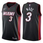2017-18 Dwyane Wade Miami Heat #3 Statement Black