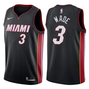 2017-18 Dwyane Wade Miami Heat #3 Statement Black