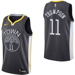 2017-18 Golden State Warriors Klay Thompson #11 Statement Black