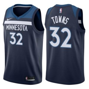 2017-18 Karl-Anthony Towns Minnesota Timberwolves #32 Icon Navy