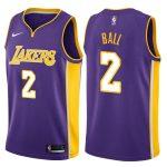 2017-18 Lonzo Ball Los Angeles Lakers #2 Statement Purple