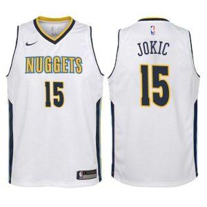 2017-18 Nikola Jokic Denver Nuggets #15 Association White