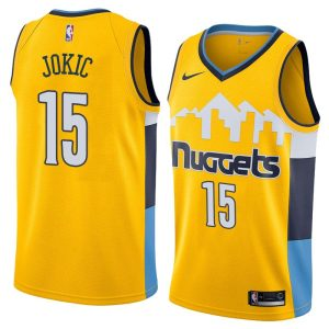 2017-18 Nikola Jokic Denver Nuggets #15 Statement Gold