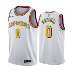 2019-20 Warriors D'Angelo Russell #0 White Classic San Francisco
