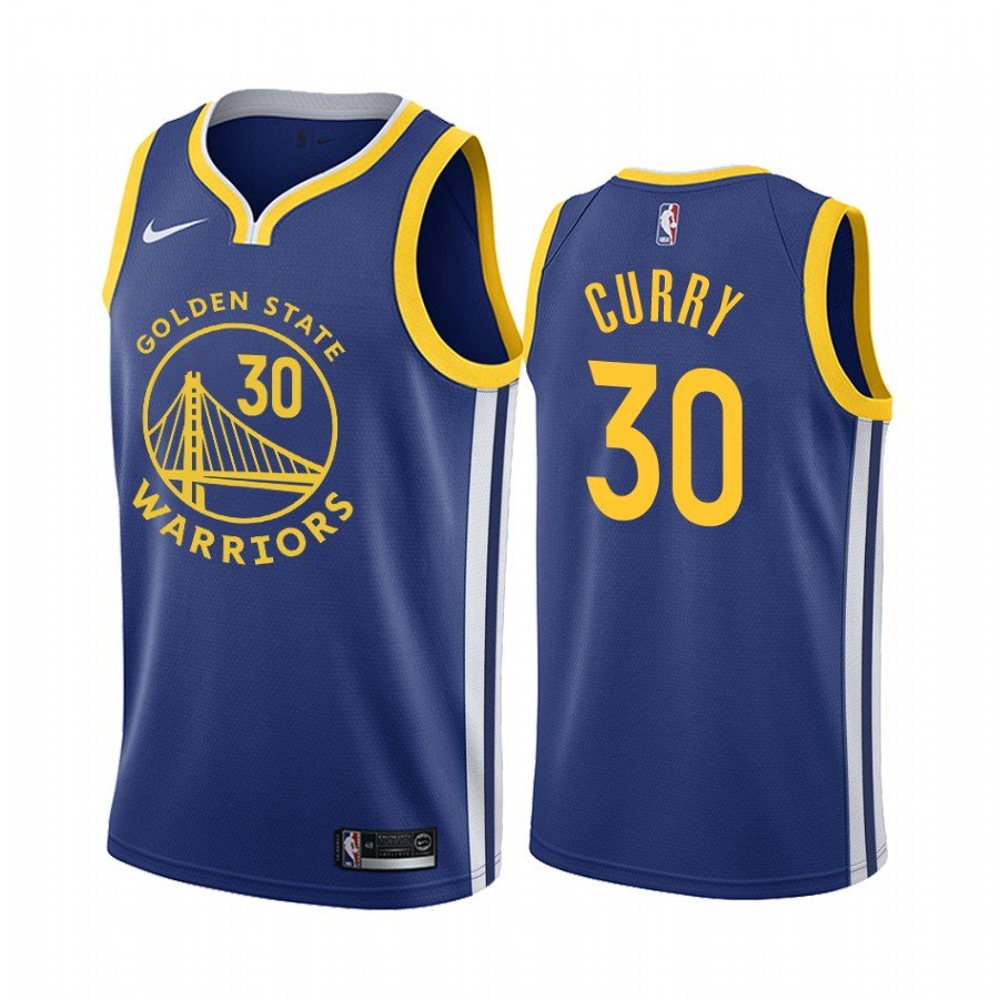2019-20 Warriors Stephen Curry #30 Royal Icon
