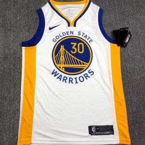 2019-20 Warriors Stephen Curry #30 White Association