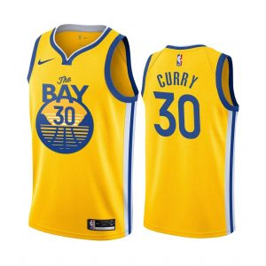 2019-20 Warriors Stephen Curry #30 Yellow City