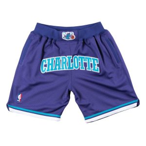 2019 Just Don Charlotte Hornets Shorts Purple