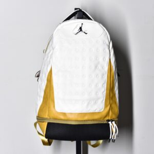 Air Jordan Retro 13 Backpack White Gold